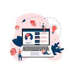 online education program software vector image
