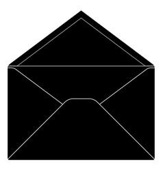 open envelope black sign vector image