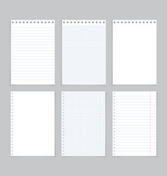 paper notebook page sheet for school note vector image