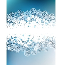 Paper snowflakes for winter background vector image