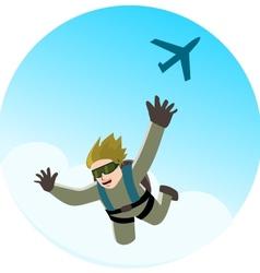 Parachute jumping vector image