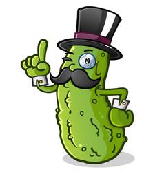 Pickle gentleman cartoon character vector