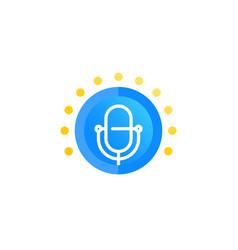 Podcast logo icon vector
