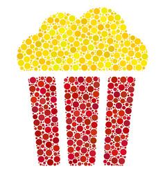 Popcorn bucket composition of dots vector