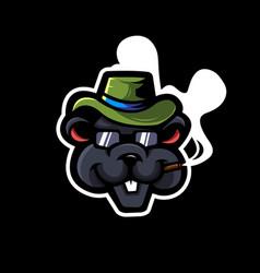 rat mascot logo design vector image