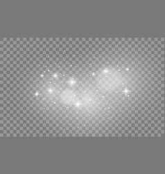 Set of white lights effects isolated on vector