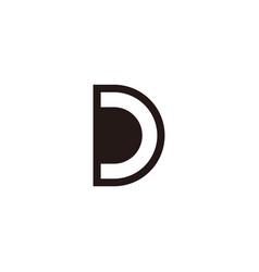 simple geometric letter dc negative space logo vector image