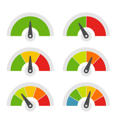 Speed meter icons set on white background vector