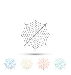 spider web icon on white background cobweb sign vector image