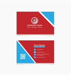 Template business card vector
