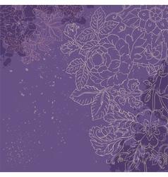 vintage grunge flower background vector image