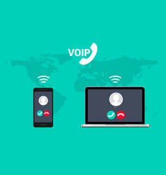 Voip call system voice phone technology voice vector