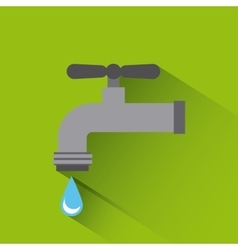 water tap icon vector image