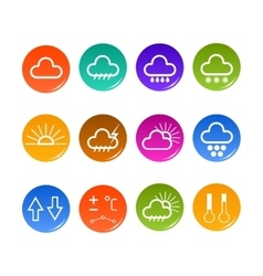 Weather forecast icons vector