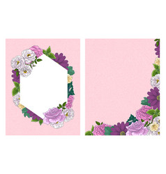 Wedding floral invitation card save date vector