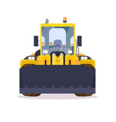 Wheel loader front view flat style vector