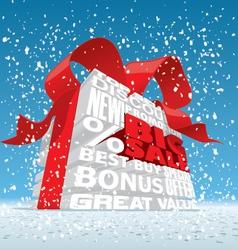 Winter big sale 3d text vector