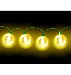 Yellow lamp festive garland Seamless vector image vector image