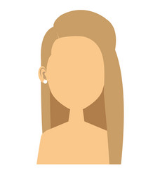 Young woman shirtless avatar character vector
