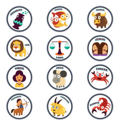zodiac in cartoon style vector image