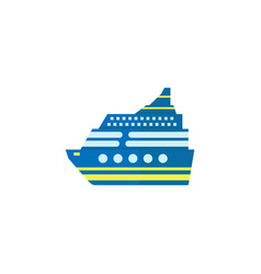 cruise flat icon travel tourism vector image