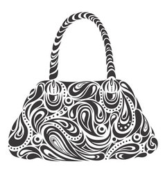 modern handbag vector image