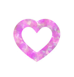 pink heart outline of dot vector image vector image