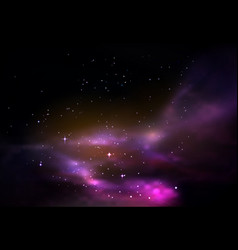 space or universe galaxy or cosmos panorama vector image vector image