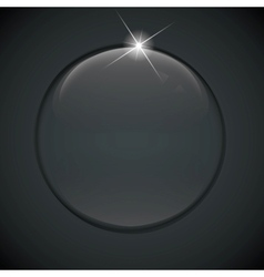 black bubble on background vector image