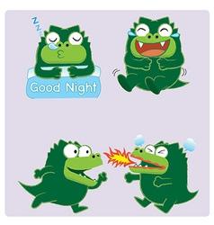 crocodileActing02 vector image