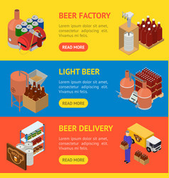 equipment and beer production banner horizontal vector image vector image