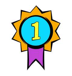 first place medal icon icon cartoon vector image