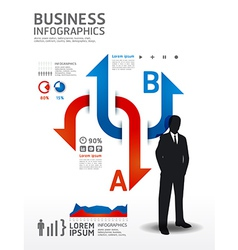 Infographics Business concept vector image vector image