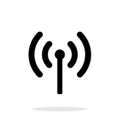Radio antenna sending signal icon on white vector image