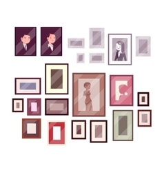 Set of pictures and photos vector image