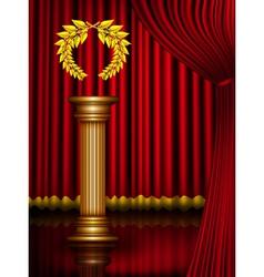 Award column vector image vector image
