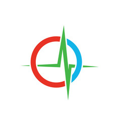 medical heartbeat logo image vector image vector image
