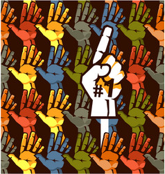 seamless hand pattern vector image