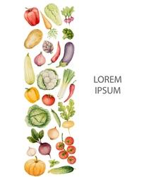 Set of watercolor vegetables vector