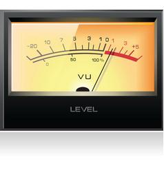 analog electronic vu meter vector image