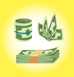 dollar paper business finance money stack of vector image