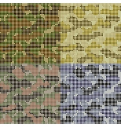 Dotted Camouflage Patterns vector image