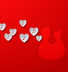 Love Music Concept Design vector image vector image