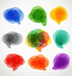 Abstract color speech clouds collection vector image