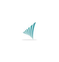 Abstract curve loop logo vector