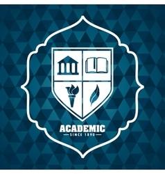 Academic award design vector