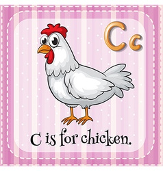 Alphabet C vector image