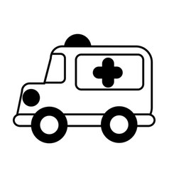 Ambulance vehicle isolated icon vector