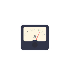 Ammeter icon isolated on white vector