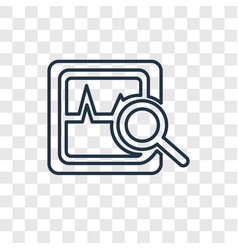 Analytics concept linear icon isolated on vector
